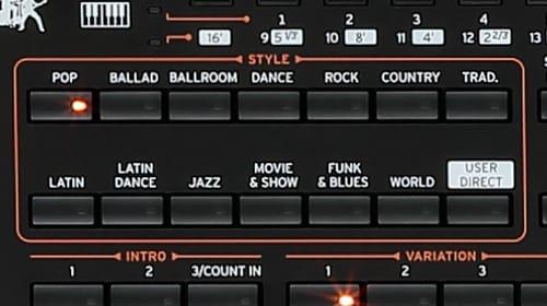 korg pa4x music styles