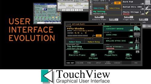 Korg pa4x 7 touch-screen